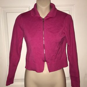 W by Worth New York Pink Fuschia Sweater Top